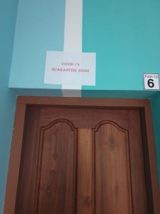 Quarantine room at RAFORCE ACADEMY,Kerala